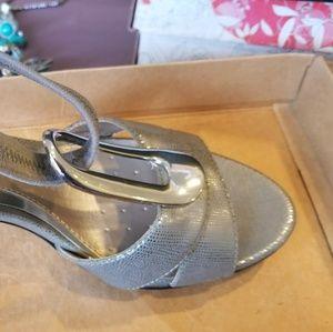NIB Alfani silver sandals